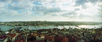 """Istanbul skyline on a cloudy day, Turkey by Panoramic Images - 29"""" x 12"""", FulcrumGallery.com brand"""