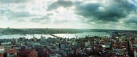 """View of a city on a cloudy day, Istanbul, Turkey by Panoramic Images - 29"""" x 12"""", FulcrumGallery.com brand"""