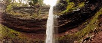 """Water falling from rocks, Kaaterskill Falls, Catskill Mountains, New York State by Panoramic Images - 28"""" x 12"""""""