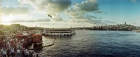 """Ferries along the Bosphorus, Istanbul, Turkey by Panoramic Images - 30"""" x 12"""" - $34.99"""