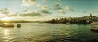 "Bosphorus Strait at sunset, Istanbul, Turkey by Panoramic Images - 28"" x 12"" - $34.99"