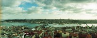 """High angle view of a city, Istanbul, Turkey by Panoramic Images - 30"""" x 12"""", FulcrumGallery.com brand"""
