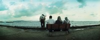 """People looking out on the Bosphorus Strait, Istanbul, Turkey by Panoramic Images - 30"""" x 12"""" - $34.99"""