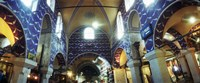 """Interiors of a market, Grand Bazaar, Istanbul, Turkey by Panoramic Images - 29"""" x 12"""""""