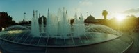 "Fountain by the Blue Mosque in Istanbul, Turkey by Panoramic Images - 31"" x 12"""