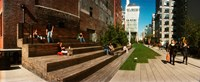 "People on the street in a city, High Line, Chelsea, Manhattan, New York City, New York State, USA by Panoramic Images - 29"" x 12"""