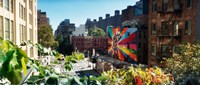 "Buildings around a street from the High Line in Chelsea, New York City, New York State, USA by Panoramic Images - 28"" x 12"""