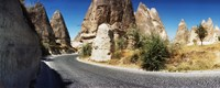 "Winding road passing through rocks, Cappadocia, Central Anatolia Region, Turkey by Panoramic Images - 30"" x 12"""