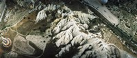 """Aerial view of rock formations, Cappadocia, Central Anatolia Region, Turkey by Panoramic Images - 28"""" x 12"""""""