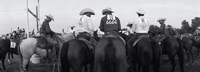 Cowboys on horses at rodeo, Wichita Falls, Texas, USA Fine Art Print