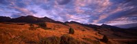 """Clouds over mountainous landscape at dusk, Montana, USA by Panoramic Images - 37"""" x 12"""", FulcrumGallery.com brand"""