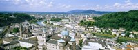 """Buildings in a city, view from Hohensalzburg Castle, Salzburg, Austria by Panoramic Images - 33"""" x 12"""""""
