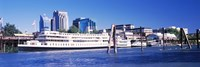 """Skyscrapers at the waterfront, Delta King Hotel, Sacramento, California, USA 2012 by Panoramic Images, 2012 - 36"""" x 12"""""""