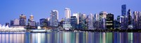 """Vancouver skyline, British Columbia, Canada by Panoramic Images - 39"""" x 12"""" - $34.99"""