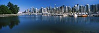 """Marina with city at waterfront, Vancouver, British Columbia, Canada 2013 by Panoramic Images, 2013 - 36"""" x 12"""""""