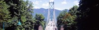 """Lions Gate Suspension Bridge, Vancouver, British Columbia, Canada by Panoramic Images - 39"""" x 12"""", FulcrumGallery.com brand"""