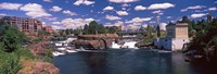 "Howard Street Bridge over Spokane Falls, Spokane, Washington State, USA by Panoramic Images - 35"" x 12"""