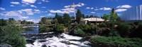 "Imax Theater with Spokane Falls, Spokane, Washington State, USA by Panoramic Images - 36"" x 12"""