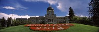 """Formal garden in front of a government building, State Capitol Building, Helena, Montana, USA by Panoramic Images - 36"""" x 12"""""""