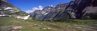 "Mountains on a landscape, US Glacier National Park, Montana, USA by Panoramic Images - 37"" x 12"""