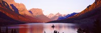 St. Mary Lake at US Glacier National Park, Montana, USA Fine Art Print