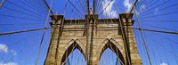 "Low angle view of a suspension bridge, Brooklyn Bridge, New York City, New York State, USA by Panoramic Images - 33"" x 12"""
