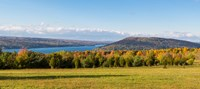 """The Bluff on Keuka Lake in autumn, Finger Lakes, New York State, USA by Panoramic Images - 27"""" x 12"""""""