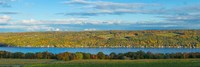 Lake surrounded by hills, Keuka Lake, Finger Lakes, New York State, USA by Panoramic Images - various sizes - $32.49
