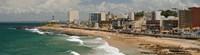 "Tourists on the Porto Da Barra Beach with Farol Da Barra Lighthouse in background, Salvador, Bahia, Brazil by Panoramic Images - 44"" x 12"""