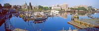 """Buildings at the waterfront, Inner Harbor, Victoria, Vancouver Island, British Columbia, Canada by Panoramic Images - 38"""" x 12"""""""