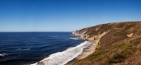 """Surf at the coast, Tomales Point, Point Reyes National Seashore, Marin County, California, USA by Panoramic Images - 26"""" x 12"""" - $34.99"""