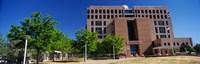 Facade of a government building, Pete V.Domenici United States Courthouse, Albuquerque, New Mexico, USA Fine Art Print