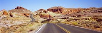 Road passing through the Valley of Fire State Park, Nevada, USA Fine Art Print