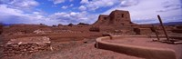 """Pecos Pueblo mission church ruins, Pecos National Historical Park, New Mexico, USA by Panoramic Images - 37"""" x 12"""""""