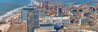 Aerial view of a city, Atlantic City, New Jersey, USA Fine Art Print