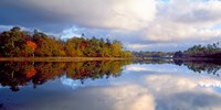"""Sunrise over river, Crac'h, Morbihan, Brittany, France by Panoramic Images - 24"""" x 12"""""""