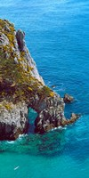 """High angle view of cliff at the coast, Crozon, Finistere, Brittany, France by Panoramic Images - 12"""" x 24"""""""