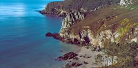 """High angle view of a coast, Crozon, Finistere, Brittany, France by Panoramic Images - 24"""" x 12"""", FulcrumGallery.com brand"""