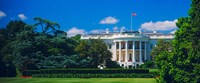 Facade of a government building, White House, Washington DC Fine Art Print