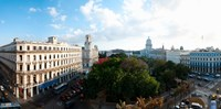 """State Capitol Building in a city, Parque Central, Havana, Cuba by Panoramic Images - 24"""" x 12"""""""
