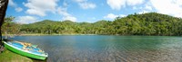 """Rowboats in a pond, Las Terrazas, Pinar Del Rio Province, Cuba by Panoramic Images - 35"""" x 12"""", FulcrumGallery.com brand"""