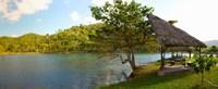 "Picnic area at pond, Las Terrazas, Pinar Del Rio Province, Cuba by Panoramic Images - 29"" x 12"", FulcrumGallery.com brand"