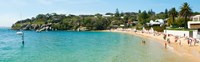 "People on the beach, Camp Cove, Watsons Bay, Sydney, New South Wales, Australia by Panoramic Images - 39"" x 12"""