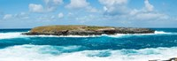 """Small island in the sea, Flinders Chase National Park, Kangaroo Island, South Australia, Australia by Panoramic Images - 35"""" x 12"""""""