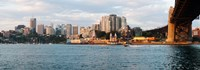 """Skyscrapers at the waterfront, McMahons Point, Sydney Harbor Bridge, Sydney Harbor, Sydney, New South Wales, Australia 2012 by Panoramic Images, 2012 - 34"""" x 12"""""""