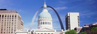 """Government building surrounded by Gateway Arch, Old Courthouse, St. Louis, Missouri, USA by Panoramic Images - 34"""" x 12"""""""