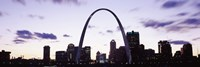 """Gateway Arch with city skyline, St. Louis, Missouri by Panoramic Images - 36"""" x 12"""""""