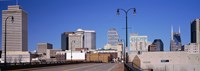"""Downtown Nashville, Tennessee by Panoramic Images - 34"""" x 12"""""""
