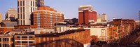 """Buildings in a downtown district, Nashville, Tennessee by Panoramic Images - 36"""" x 12"""""""
