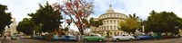 """Vintage cars parked on a street, Havana, Cuba by Panoramic Images - 50"""" x 12"""""""